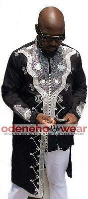 Odeneho Wear Men's Polished Cotton Outfit/Embroidery Design.African Clothing.