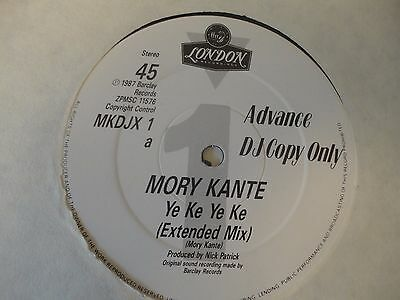 "MORY KANTE - Ye Ke Ye Ke MKDJX1  Vinyl 12"" London Records PROMO DJ COPY"