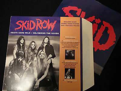 """Skid Row Youth Gone Wild A7444T Vinyl 12"""" with giant poster"""