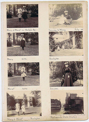 Victorian Family at Carlyle Square London & Pangbourne - 16x Antique Photos 1896