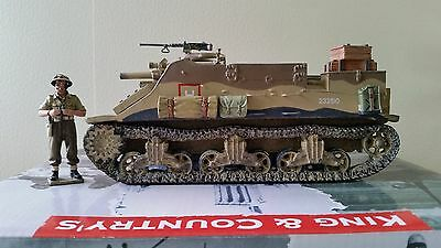 King & Country 8th Army M7 Priest with Commander EA058, Discontinued model.