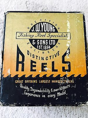 """VINTAGE 4"""" J.W. YOUNG & SONS """""""" REEL -- In V.G. condition"""