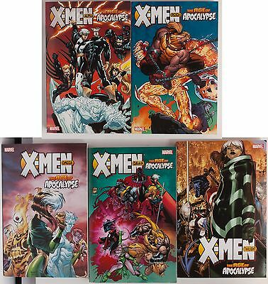 X-Men Age of Apocalypse 1 2 3 Dawn Twilight Marvel Graphic Novel Comic Book Lot