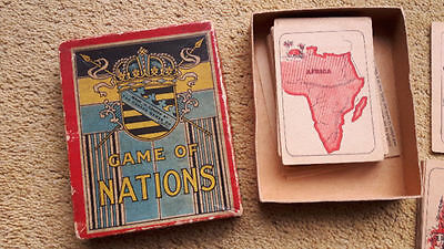 RARE Antique card Game of Nations by Canada Games Co, Playing Cards Antique Game