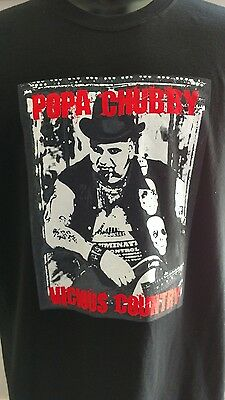 New POPA CHUBBY Vicious Country T Shirt 2008 Tour Great CD
