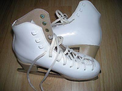 Pair Of Risport Antea White Ice Skates Size 36 Euro/ Bag Included