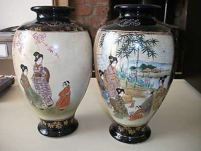 Pair Of Large 19/20thC Satsuma Two Panel Vases