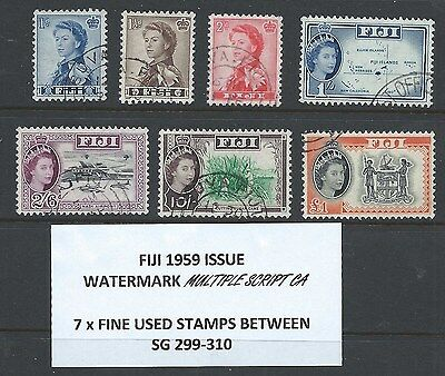 Fiji 7 X Qe2 Fine Used Stamps As Described On Scan
