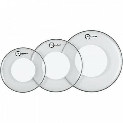 Aquarian Super-2 Drumheads with Power Dot Rock Pack. Free Shipping