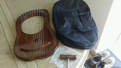 Lyre Harp 10 Strings with Tunning Key Free Soft Carrying Case /Lyra harp