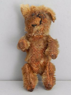"""Vintage 1920's Schuco Piccolo small jointed Bear only 2 1/4"""" tall"""