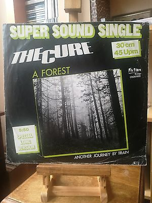 "The Cure - A Forest (12"" Single). German Press 1980. Good Condition"