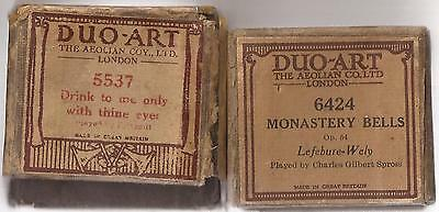 Pianola Piano Duo-Art Music Rolls x 2