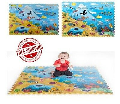 Free Shipping New Playmat Large Baby Play Mat Puzzle Foam Gym Activity Floor Toy