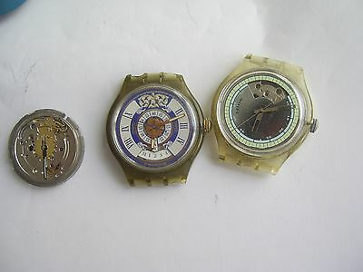 LOT swatch automatic eta vintage swiss mens watches for parts