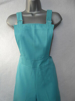 VINTAGE 1970s TURQUOISE DUNGAREES