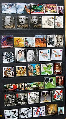 40 Different More Recent GB High Value Commemorative Stamps 1999-2012 Off Paper