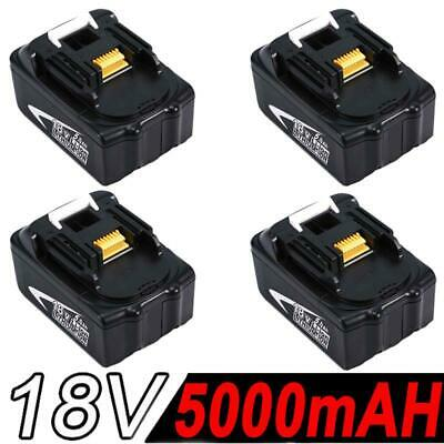 4x 18V 5.0AH Battery For Makita BL1850 BL1840 BL1830 BL1860 Lithium Ion Cordless