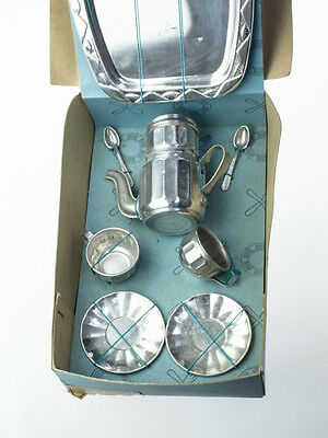 Gorgeous French Vintage Doll's Coffee Set with Original Box