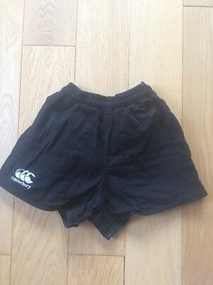 Canterbury Men's Black Rugby Shorts - size 26
