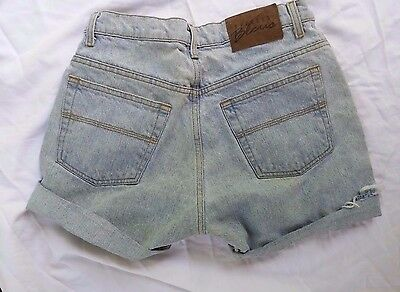 Womens Vintage EXPRESS BLEUS Sz 9/ 10 90s High Waist Jean Shorts Cutoffs Light