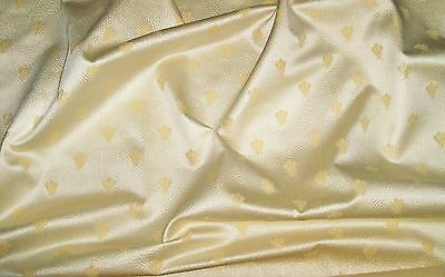 Lee Jofa Kravet Napoleon Bee Textured Damask Fabric 10 Yards Cream Gold