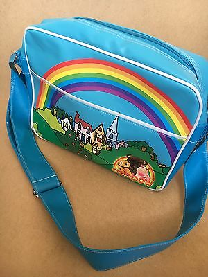 Vintage Rainbow Kids Childrens TV Flight Bag ITV Zippy George Bungle Retro 80s