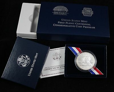 2003 P US Mint First Flight Cent. Commemorative Silver Dollar - UNC