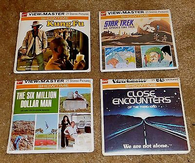 Vintage VIEW MASTER Lot TV Shows Kung Fu Star Trek Six Million $ Man Toys LOT