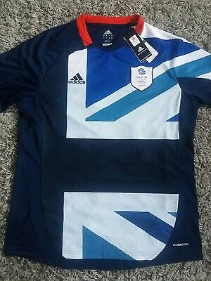 NEW WITH TAGS  TEAM GB OLYMPIC football shirt LONDON 2012 OLYMPICS ADIDAS LARGE