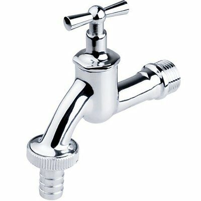 "1/2"" Garden Bib Tap Water Type Outside Chrome Valve Nice Looking"
