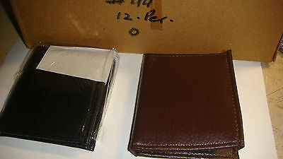 TRADE JOB LOT OF 12 X MENS  WALLETS IN BROWN  and  BLACK