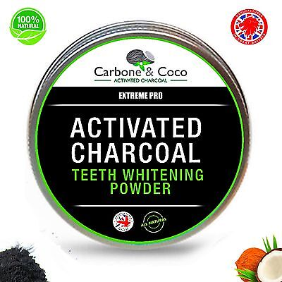 Carbone & Coco™ EXTREME Activated Coconut Shell Charcoal Teeth Whitening Powder