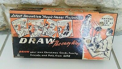 BELL Vintage Magic Image Drawing Projector 1950s Optical Toy draw the easy way
