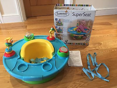 Summer Infant 3 In 1 Superseat Activity Centre Feeding Booster Seat Baby Toddler