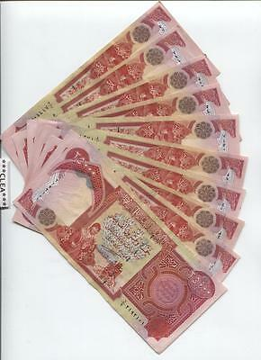 100,000 Iraqi Dinar 4 x 25,000 25000 Lightly Circulated ( Excellent ) Currency