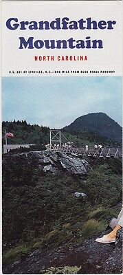 c1970 Grandfather Miountain Linville NC Promotional Brochure