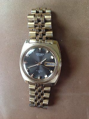 Vintage SEIKO 17 Jewel Automatic Men's Wrist Watch 7006-7119 Stainless WORKING!!