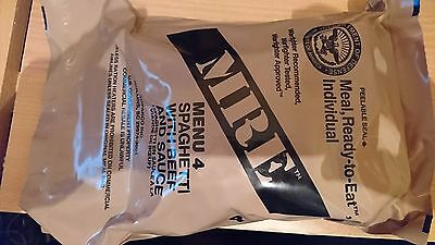 GENUINE US MRE RATION PACK MENU 4  - Spaghetti With Beef And Sauce