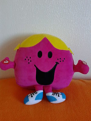 Mr Men - Little Miss Chatterbox Record & Play Plush Soft  Toy