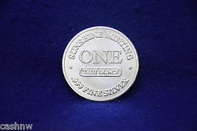 Sunshine Minting One Troy Ounce .999 Fine Silver Coin