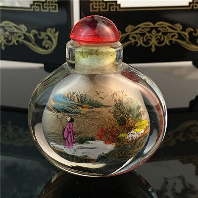 Chinese Interior painting glass snuff bottle Decorative gifts