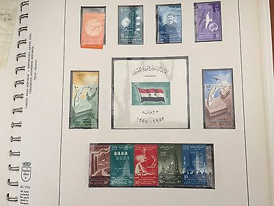 Egypt collection in 2x Lindner album between 1958 - 1979 nhm almost complete