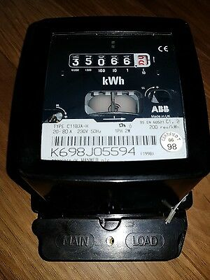 Vintage Electricity Meter Made By Abb In The Uk