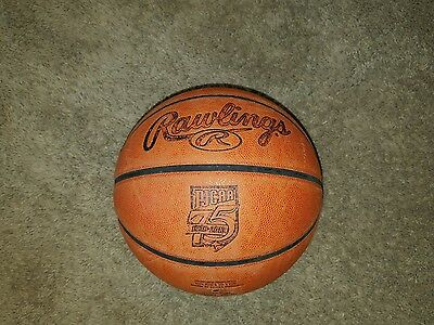 Official Genuine Leather Rawlings NJCAA Basketball Ball  RARE 75TH anniversary