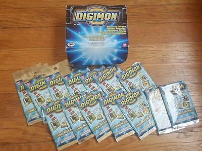Digimon Spanish digibattle cards 14 UNOPENED booster packs + bonus