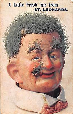 A Little Fresh air from St Leonards-on-Sea (Sussex) Grass Head Man Doll 1909