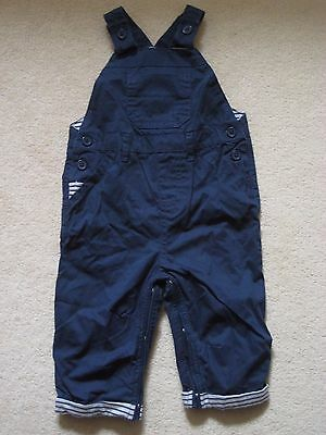 Baby Boys ex Next Dungarees up to 1 months Navy Blue