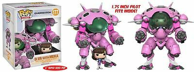 "Funko POP! Overwatch: D.Va w/ MEKA - 6"" Stylized Video Game Vinyl Figure 177 NEW"
