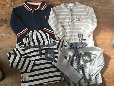 Baby Boys Long Sleeved Tops Bundle 3-6 Next & Early Days